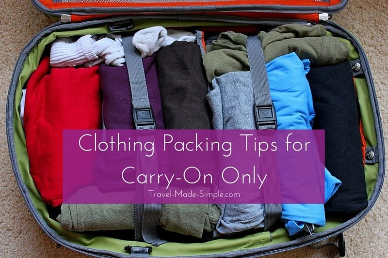 Clothing Packing Tips for Carry-On Only