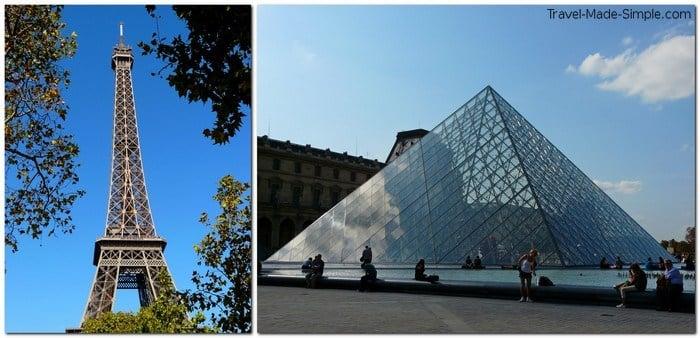 disadvantages of taking a tour - Paris Eiffel Tour and Louvre