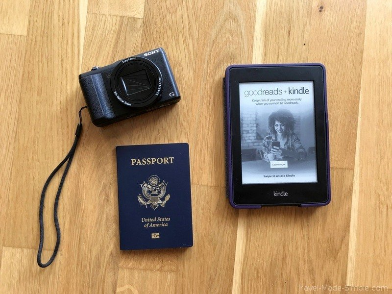 what to pack for a trip - camera, Kindle