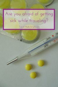fear of getting sick while traveling