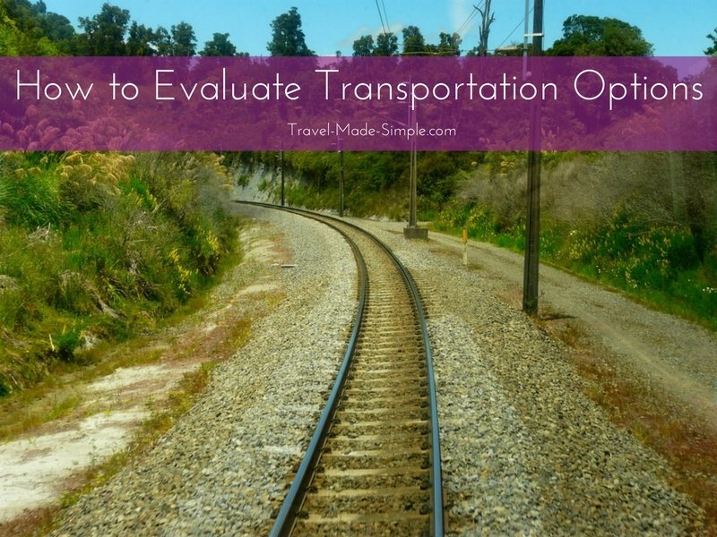 Evaluating Transportation Options