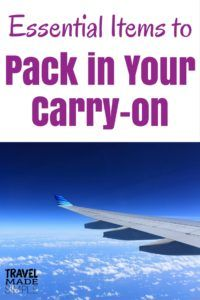 Even though I'm a big believer in carry-on only travel, there are times when checking luggage is necessary. Here's what to pack in your carry-on bag.
