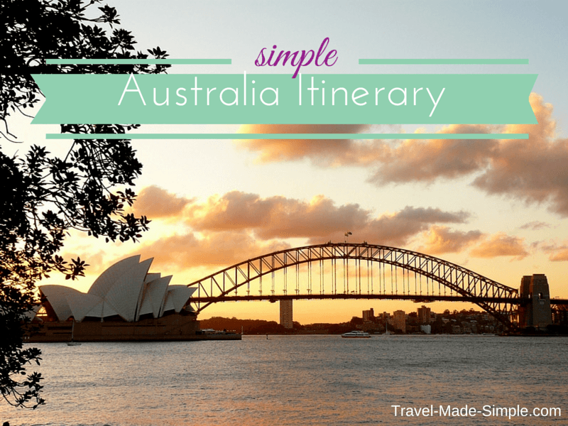 Simple Australia Itinerary - ideas for planning your trip to Australia