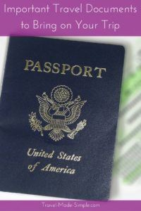 Important Travel Documents to Bring on Your Trip