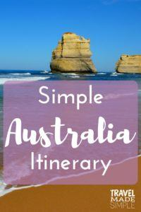 Simple Australia Itinerary