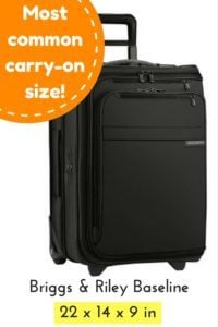 carry-on chart luggage briggs riley