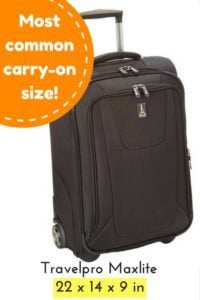 carry-on chart luggage travelpro