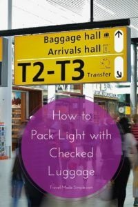 How to Pack Light with Checked Luggage