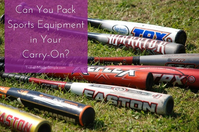 Can You Pack Sports Equipment in Your Carry-On?