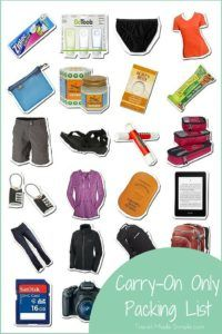 Carry-On Only Packing List