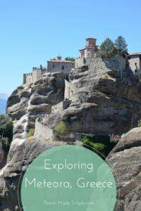Exploring Meteora, Greece
