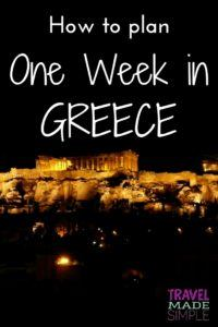Here's how to make the most of one week in Greece. From the ruins to the islands, plan a trip to Greece with our Greece itinerary and enjoy your dream vacation! one week in Greece | two weeks in Greece | travel to Greece | Greece travel planning tips
