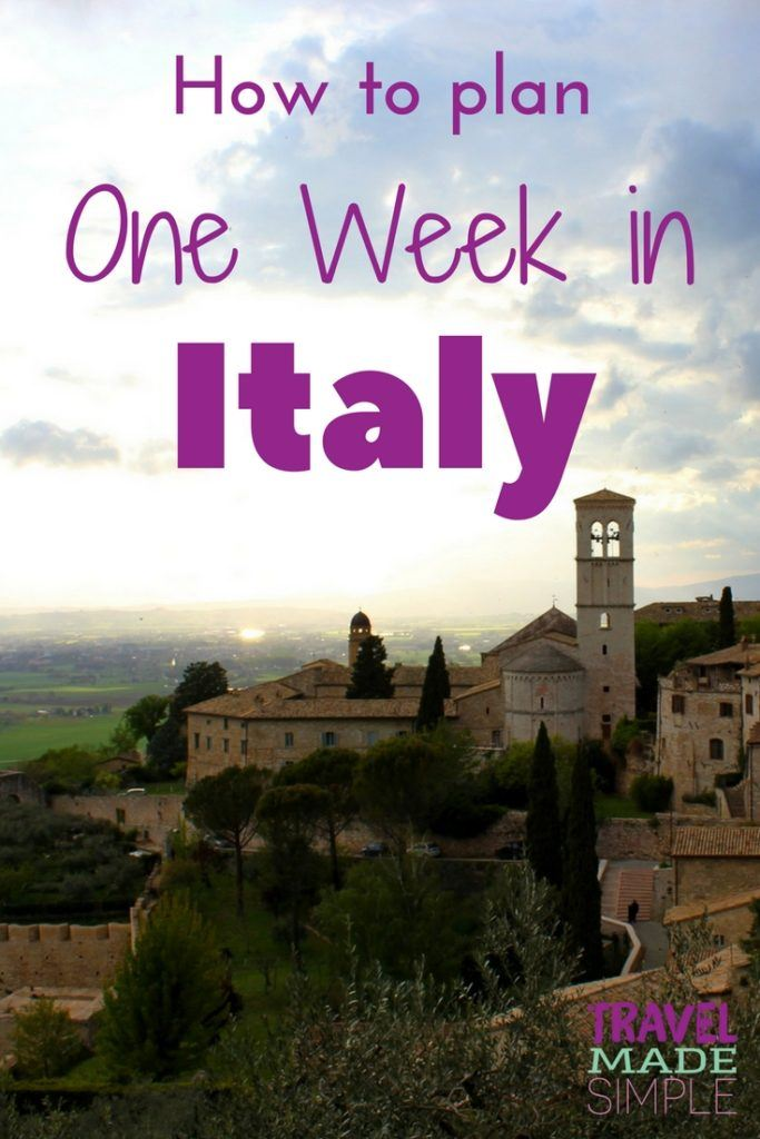ab628674a6a Simple Italy Itinerary  Ideas for Planning One Week in Italy ...