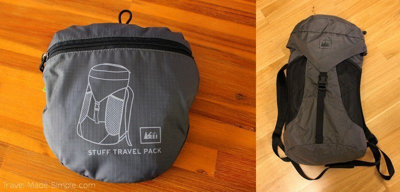 pack for a day trip - REI stuff bag