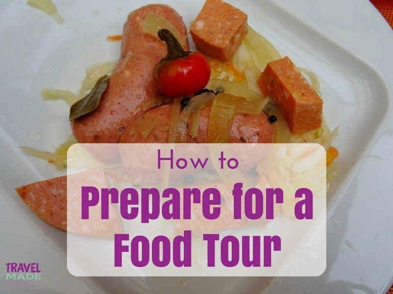 How to prepare for a food tour