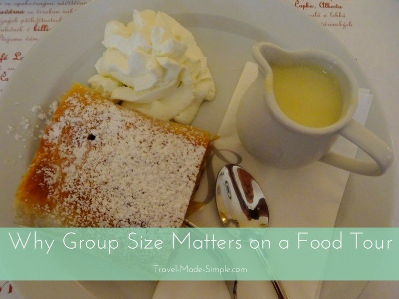 why group size matters on a food tour