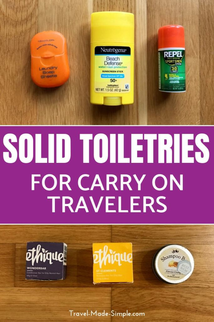 Carry On Toiletries: Non-Liquid Options for Carry-On Travel