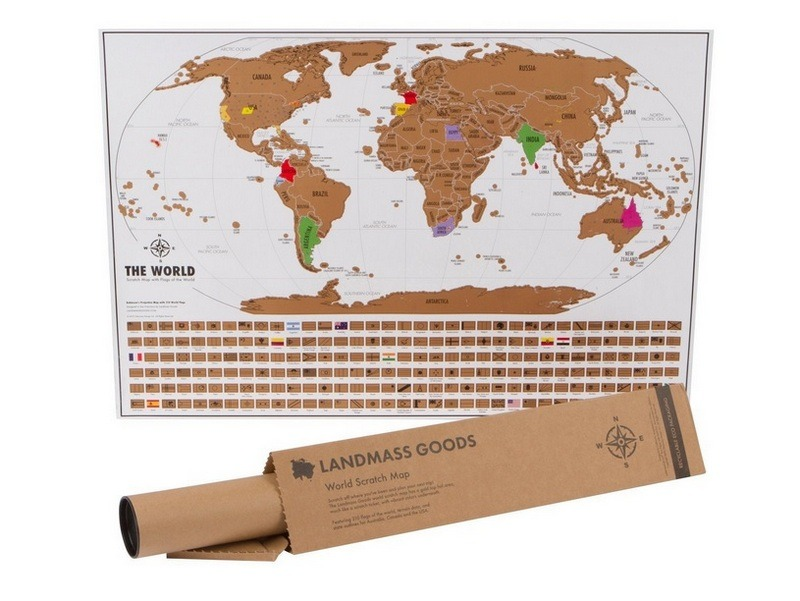 new traveler gift guide scratch off map