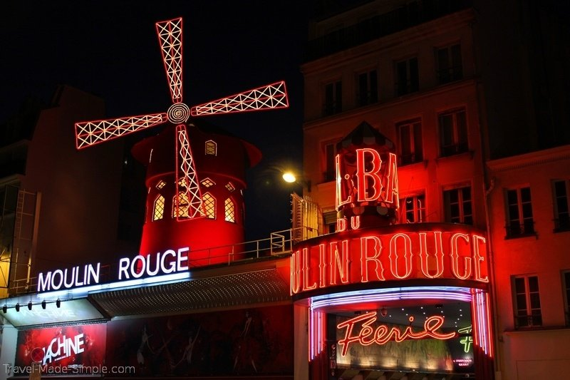 show at the Moulin Rouge in Paris