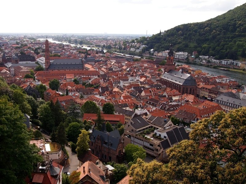 1 week itinerary in the Black Forest - Heidelberg from above