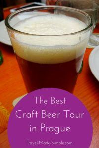 During a recent trip to Prague, we decided to book a few tours through Viator. The Prague craft beer tour was so much fun and one of the best things we did.  #prague #cz #czechrepublic #czechia #beer #traveltips