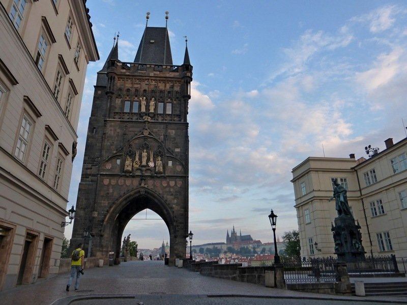 Prague from above: Charles Bridge Tower