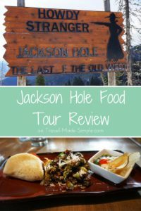 In her Jackson Hole food tour review, Gigi Griffis tells us how much she enjoyed the surprisingly tasty foods she got to try in this Wyoming town. #wyoming #wy #jacksonhole #foodtours #traveltips