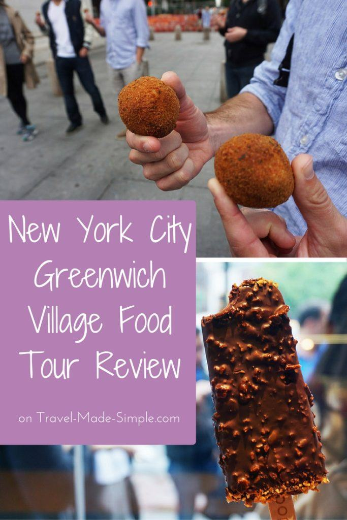 Greenwich Village New York City food tour review