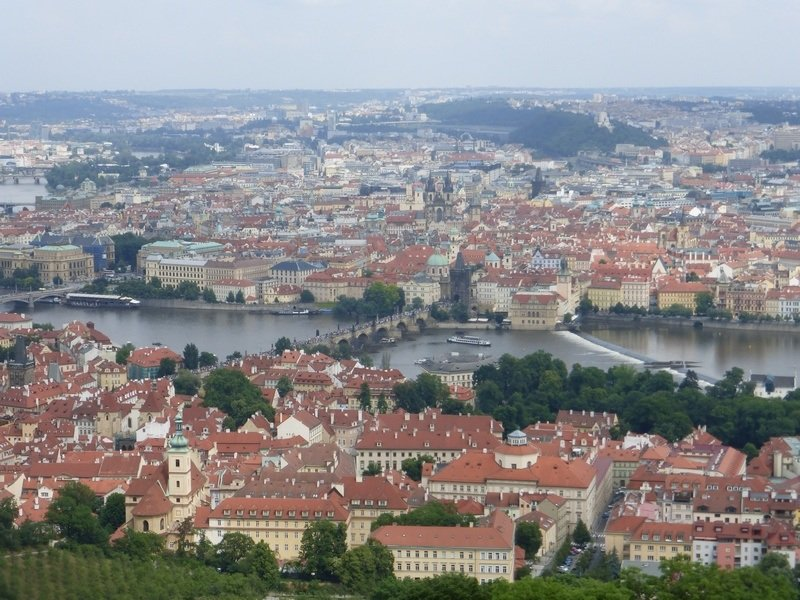 Prague from above: View From Petrin Tower