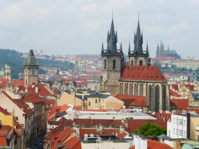 Prague from above: View From Powder Tower