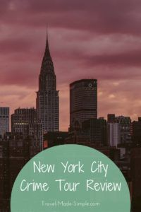 Gigi tells us about her New York crime tour with Walks of New York. Day tours can make a great addition to a vacation, like it did for her trip to NYC. #traveltips #nyc #newyorkcity #usa
