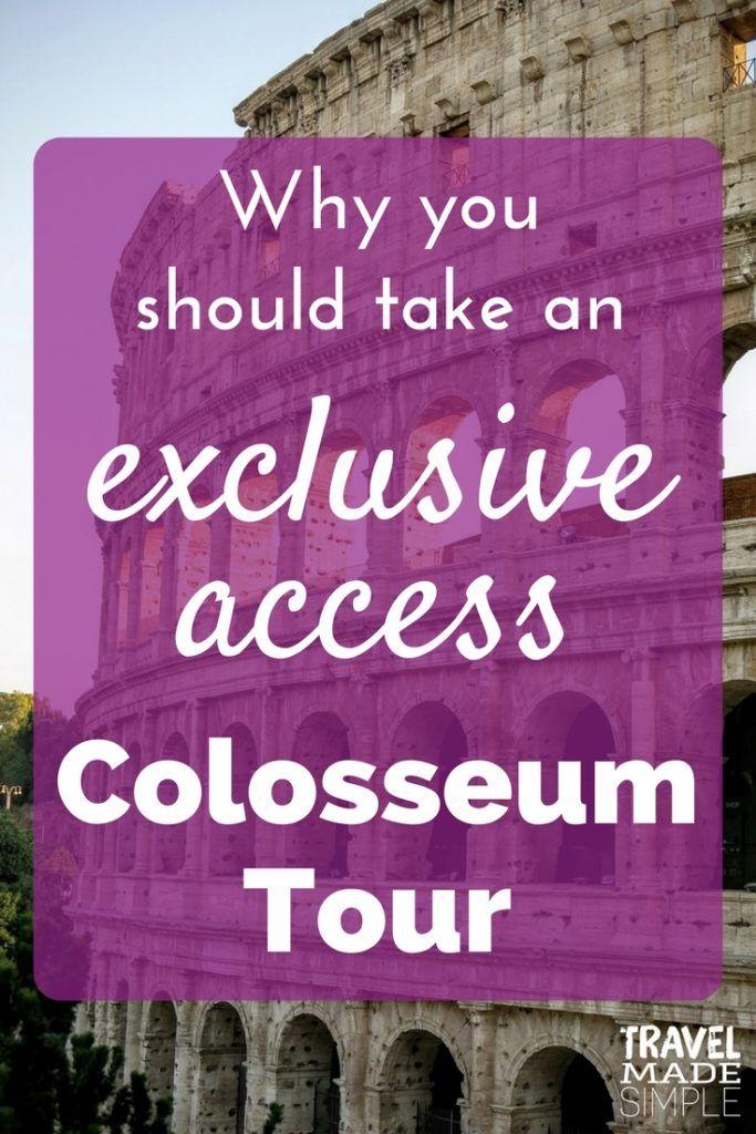 exclusive access Colosseum tour