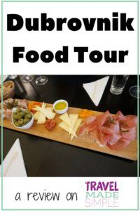 Gigi was having trouble finding good food in Dubrovnik, Croatia until she signed up for a food tour. See what she loved in her Dubrovnik Food Tour review. #dubrovnik #croatia #foodtours #traveltips