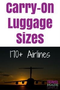 carry on luggage size chart 170 airlines travel made simple