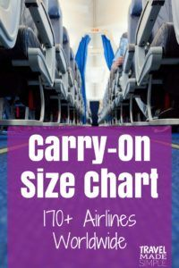 Carry On Size Chart 170 Airlines Travel Made Simple
