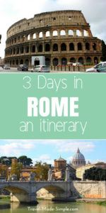 3 days in Rome isn't enough to see everything but it's enough to get a taste of the city. Here is our Rome itinerary so you can find the best things to do in Rome. #rome #italy #romeitinerary #rometips #traveltips