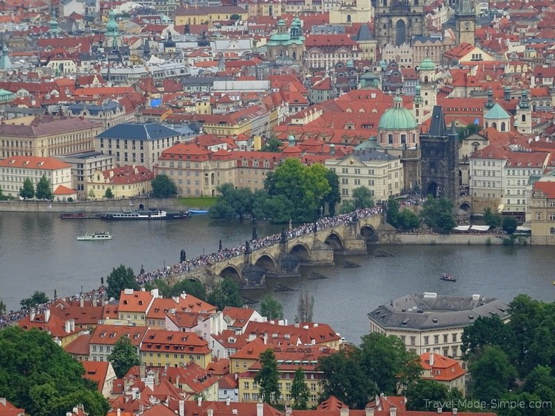 planning a trip to Prague view of Charles Bridge