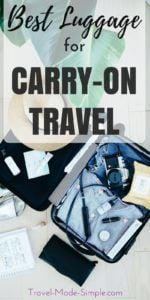 Picking the best carry-on luggage can be overwhelming with so many choices. Here's what to look for in a bag and how to choose the best carry-on size luggage, whether it's a suitcase, a backpack or a hybrid. | packing tips | carry-on travel | flying carry-on only | best carry-on luggage | best rolling carry on luggage | best carry on backpack