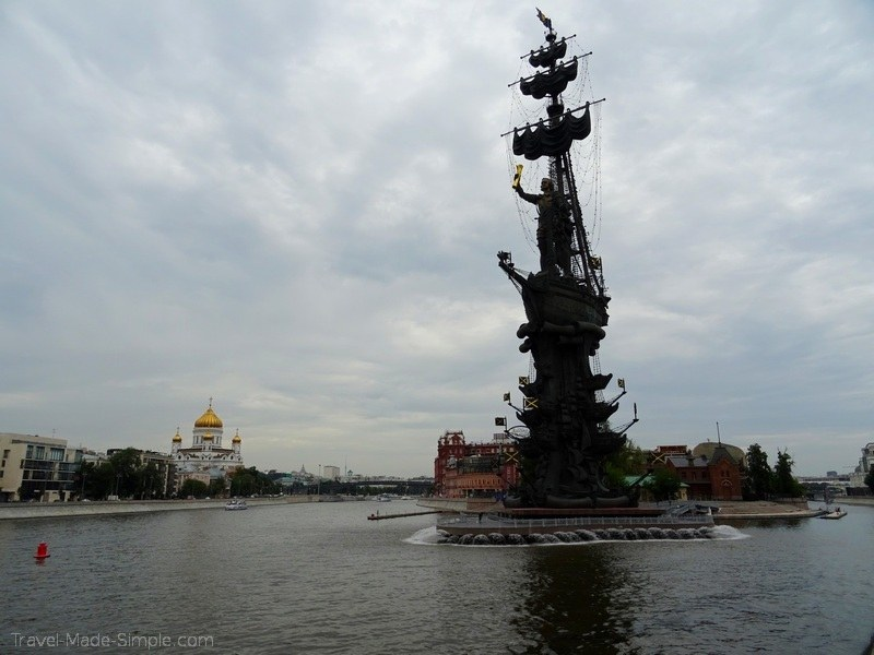 Viking Russia river cruise Moscow Peter the Great statue