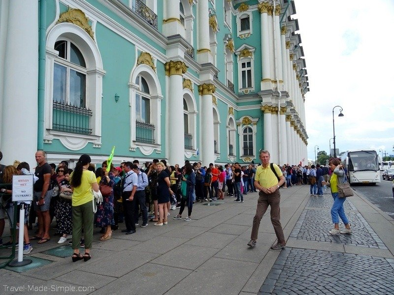 Moscow to St Petersburg cruise review - St Petersburg Hermitage line