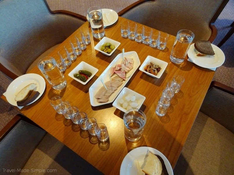 Viking Russia river cruise vodka tasting