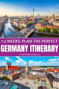 When planning your Germany itinerary, pick a few of the highlights and don't rush. Take in Germany's scenery, food, culture and history one piece at a time. Here are some ideas for how to spend 1 or 2 weeks in Germany. #germany #germanyitinerary #germanytravelplanning #travelplanning #berlin #hamburg #munich