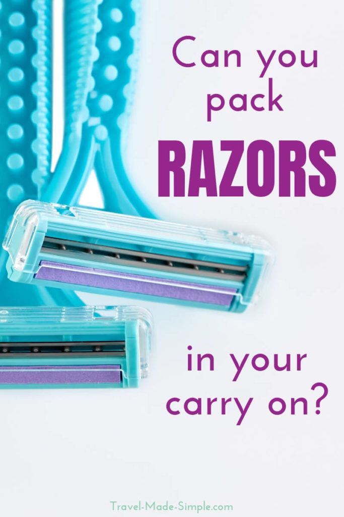 Can you bring a razor on a plane?