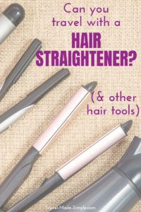 Can you take hair straighteners in hand luggage? What about hair dryers and curling irons in carry on luggage? Read more about traveling with your favorite hair styling appliance. #traveltips #hairstraightener #curlingiron #hairdryer #packingtips