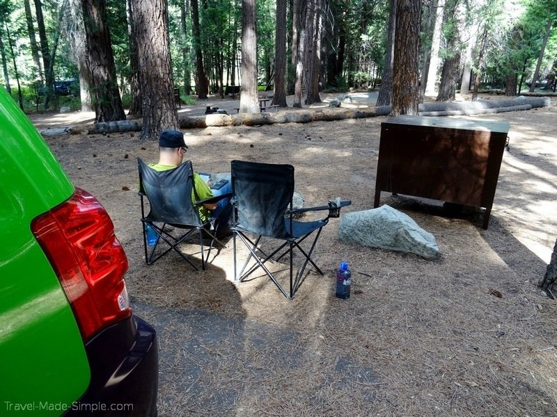 campervan national parks road trip camping chairs