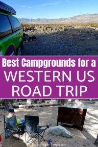Check out our tips for the best campgrounds for a western US road trip, including national parks campgrounds and private campgrounds. #camping #rv #campervan #roadtrip #usa #ca #ut #az #traveltips