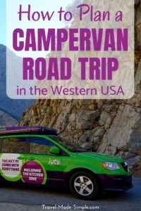 Planning a road trip with an RV or campervan is different from a normal car. Here's what you need to know for planning a campervan road trip in the western USA. #usa #ca #ut #az #roadtrip #nationalparks #camping #rv #campervan #traveltips #travelplanning