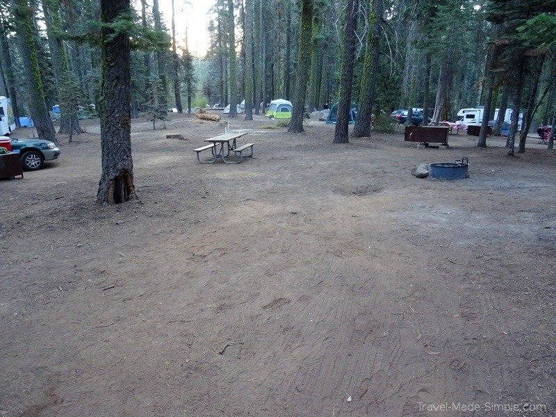 staying at national park campgrounds for US road trip Yosemite