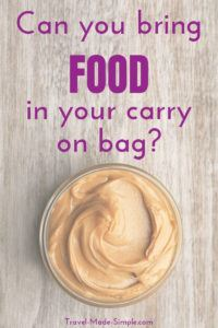 Can you bring food on a plane? Before you pack for your trip, make sure you understand the rules about taking food in hand luggage and through security. #traveltips #packingtips #carryon