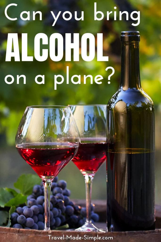 can you take alcohol on a plane